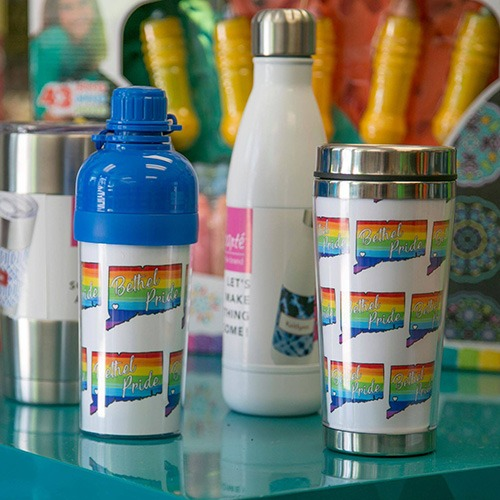 Bethel CT Pride Co-Marketing Items - Custom Tumblers from The Toy Room